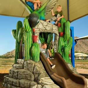 Desert-Themed Park with Shade and Custom Sculptures in Arizona gallery thumbnail